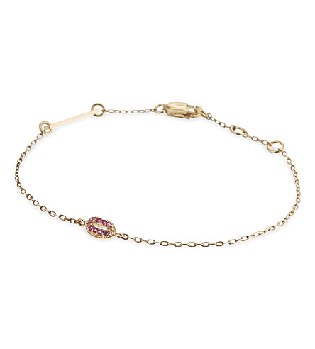 MARC JACOBS Lips friendship bracelet (Gold