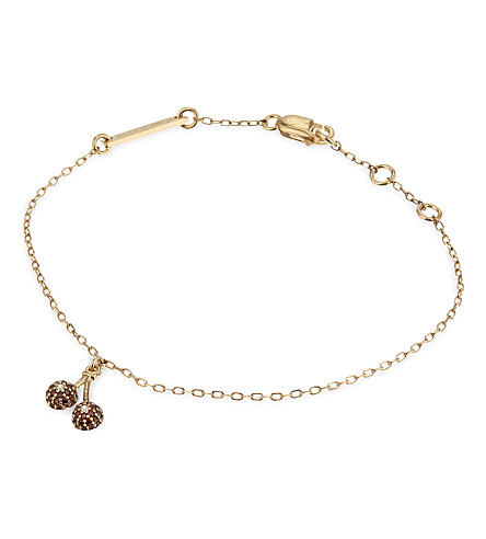 MARC JACOBS Cherries friendship bracelet (Gold