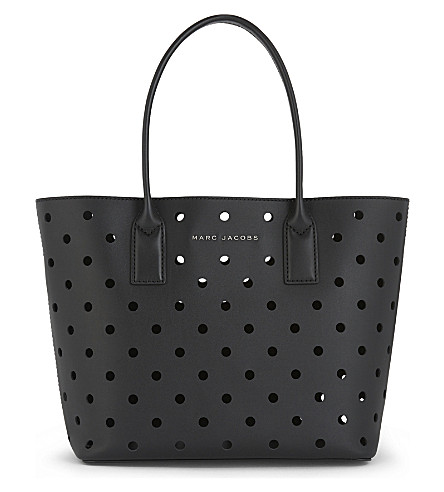 MARC JACOBS Perforated leather tote (Black