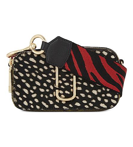 MARC JACOBS Snapshot leather camera bag (Black+multi