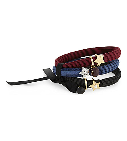 MARC JACOBS Star icon hair band cluster (Midnight+blue