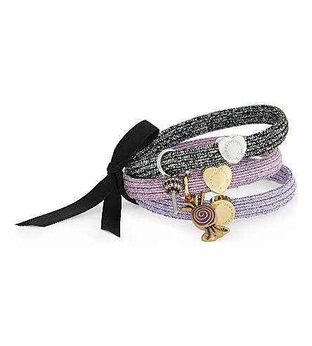 MARC JACOBS Candy swirl hairband cluster (Metallic+lilac
