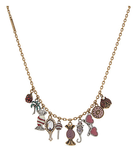 MARC JACOBS Poolside charm necklace (Antique+gold