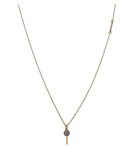 MARC JACOBS Lollipop charm pendant (Antique+gold