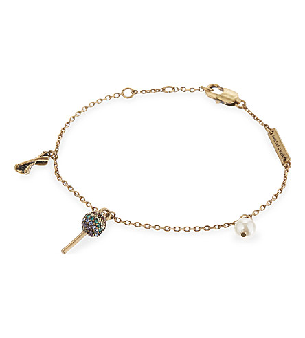 MARC JACOBS Lollipop charm friendship bracelet (Antique+gold