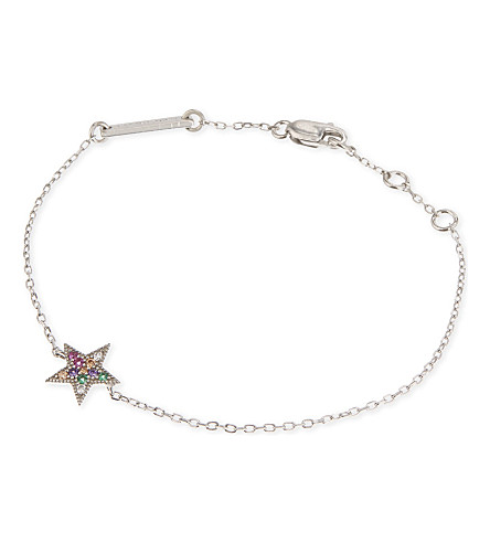 MARC JACOBS Rainbow star friendship bracelet (Silver