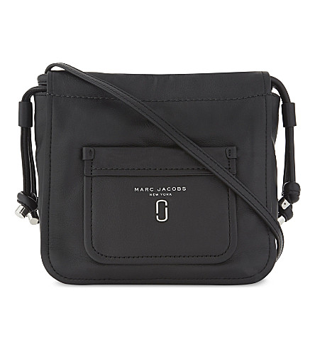 MARC JACOBS Tied Up leather cross-body bag (Black