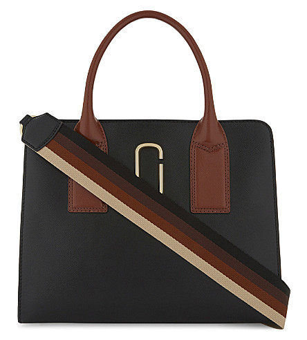 MARC JACOBS Big Shot leather tote (Black+multi