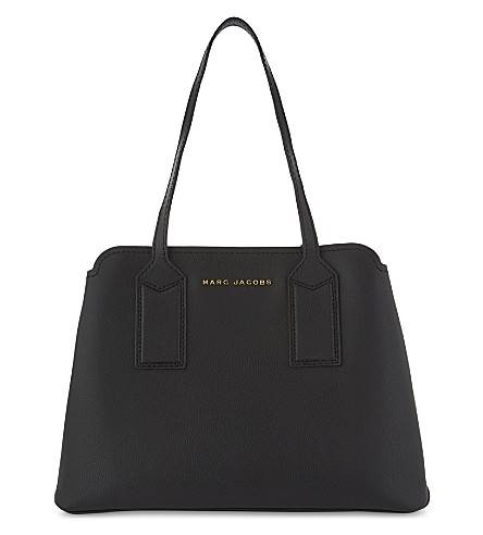 MARC JACOBS The Editor leather shoulder bag (Black