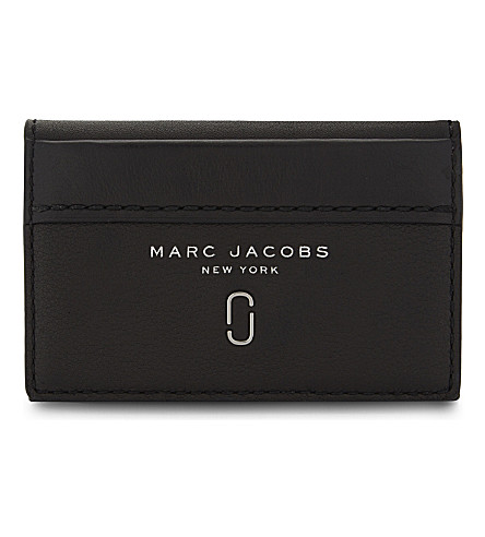MARC JACOBS Tied up leather wallet (Black