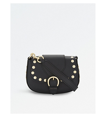 MARC JACOBS Navigator small studded leather cross-body bag (Black