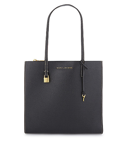 MARC JACOBS The Grind leather tote (Black/gold