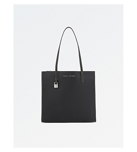 MARC JACOBS The Grind leather tote (Black