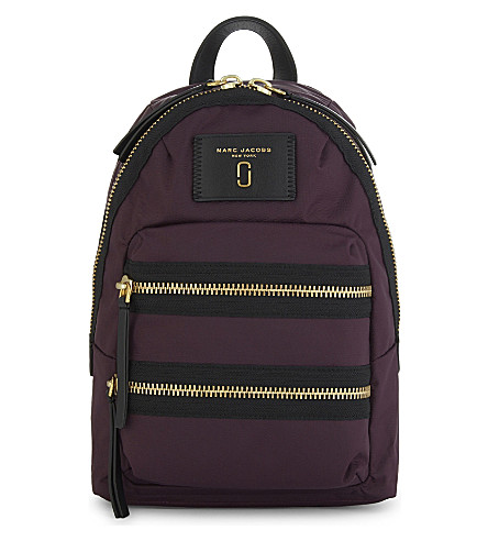 MARC JACOBS Biker nylon backpack (Dark+violet