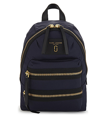 MARC JACOBS Biker Mini backpack (Midnight+blue