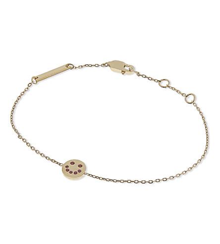 MARC JACOBS Smiling face chain bracelet (Gold