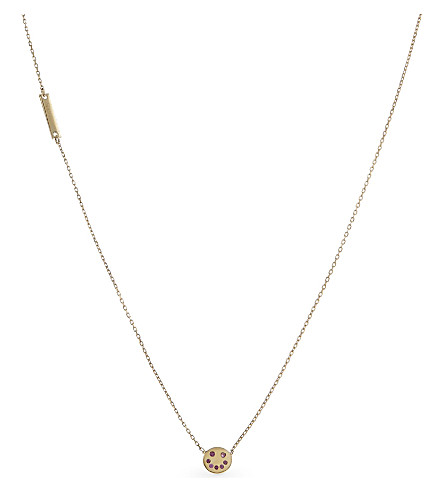 MARC JACOBS Smiling face chain necklace (Gold