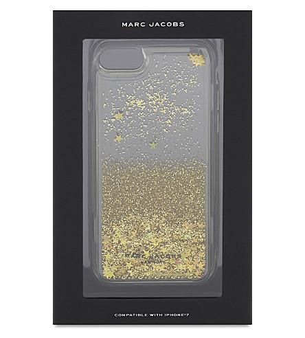 MARC JACOBS Liquid glitter iPhone case (Gold