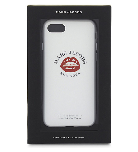 MARC JACOBS Mouth print iPhone 7 clip-on case (White+multi