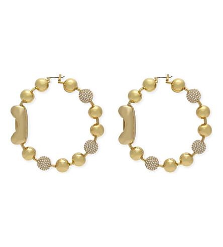 MARC JACOBS Dot hoop earrings (Gold