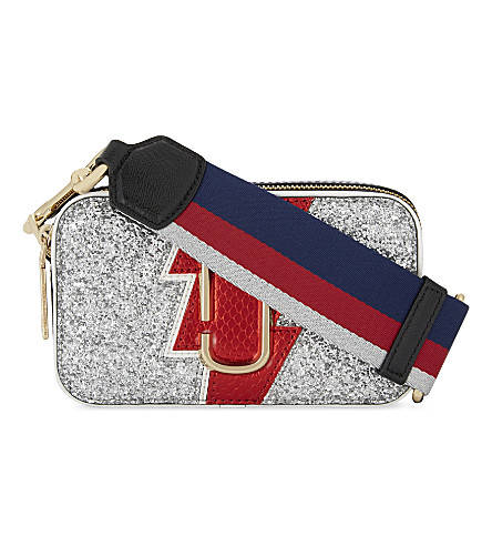 MARC JACOBS Snapshot glittered camera bag (Multi