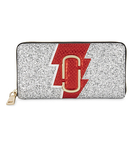 MARC JACOBS Glittered leather continental wallet (Multi