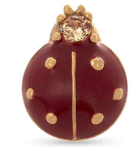 MARC JACOBS Ladybug single stud earring (Gold