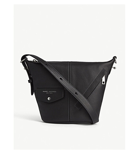 MARC JACOBS Mini Sling leather cross-body bag (Black