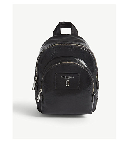 MARC JACOBS Mini Double Zip leather backpack (Black