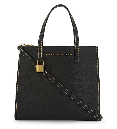 MARC JACOBS Mini Grind tote bag (Black/gold