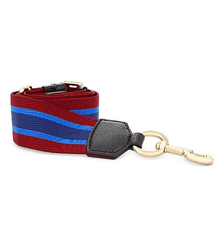 MARC JACOBS Striped bag strap (Blue+multi