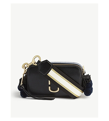 MARC JACOBS Snapshot Saffiano leather cross-body bag (Black+multi