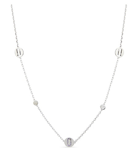 MARC JACOBS Double J pavé stone necklace (Silver