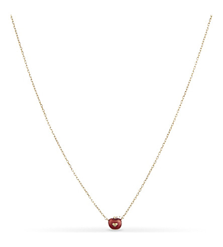 MARC JACOBS Something special apple necklace (Gold