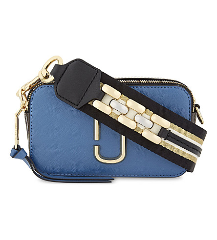 MARC JACOBS Snapshot leather cross-body bag (Vintage+blue+multi