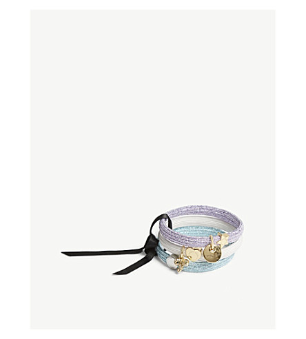MARC JACOBS Charm glittered hairbands 3-pack (White+multi