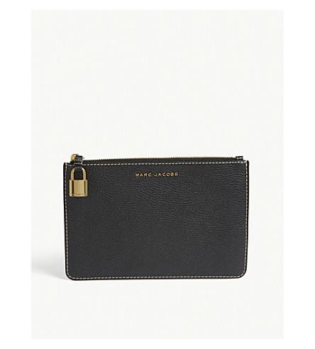 MARC JACOBS Grind medium leather pouch (Black