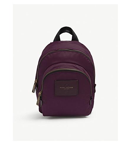 MARC JACOBS Mini nylon backpack (Burgundy