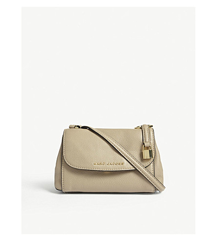 MARC JACOBS Mini Boho Grind leather cross-body bag (Light+slate