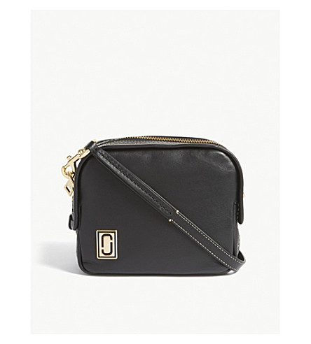 MARC JACOBS Mini Squeeze leather cross-body bag (Black