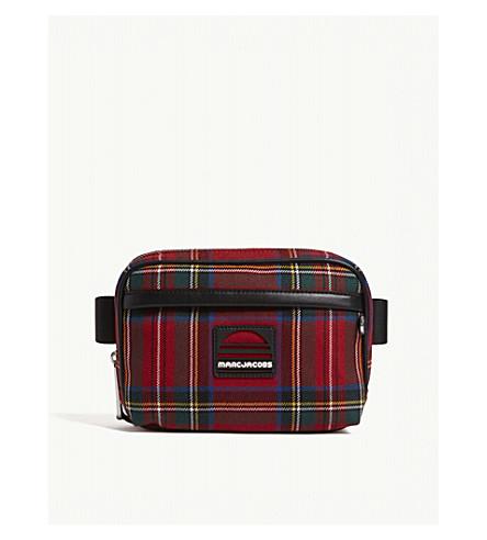 MARC JACOBS Tartan print sport belt bag (Red+multi