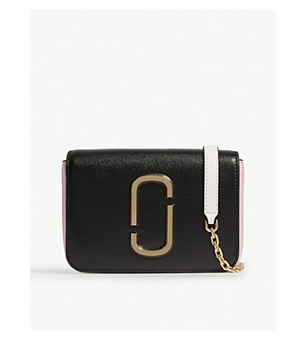 MARC JACOBS Hip Shot Bag (Black/baby+pink