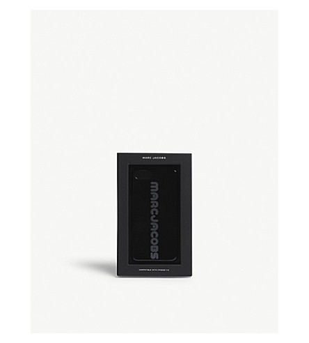 MARC JACOBS 标志 iPhone X 盒 (黑色