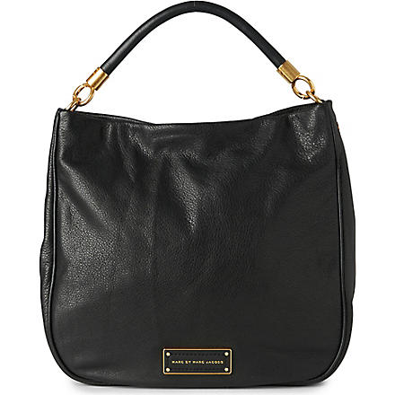 MARC BY MARC JACOBS Too Hot to Handle leather hobo (Black