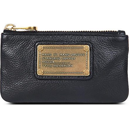 MARC BY MARC JACOBS Supersonic leather key pouch (Black