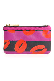 MARC BY MARC JACOBS Stripy Lips key pouch