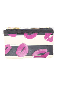 MARC BY MARC JACOBS Stripey Lips key pouch