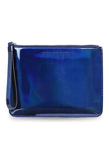 MARC BY MARC JACOBS Techno metallic wristlet pouch
