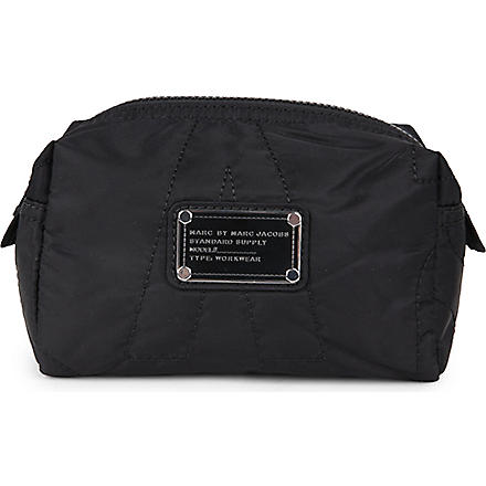 MARC BY MARC JACOBS Pretty nylon small cosmetic pouch (Black