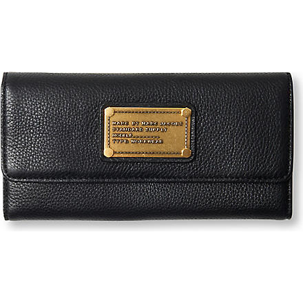 MARC BY MARC JACOBS Classic Q leather tri-fold wallet (Black